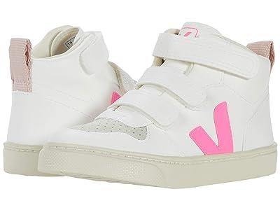 VEJA Kids V-10 Mid (Toddler) (White Sari Petale) Kids Shoes
