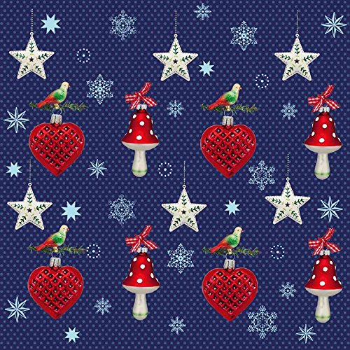 Susy Card - kerstservet Kerstversiering WH-sieraden blauw