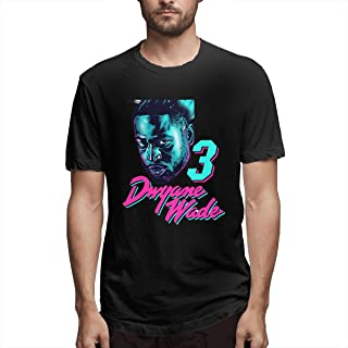 Men's Classic Solid Ultra Soft Cotton Crew Neck Dwyane D-Wade T-Shirt Multipack