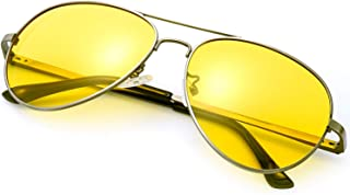 16cde87ffd Gafas de Sol Polarizadas Aviador Lente HD Amarillas Gafas Conducir para  Hombre y Mujer 100%