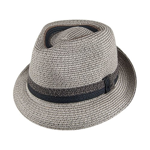Village Hats Chapeau Trilby Archer Gris Bailey - Large