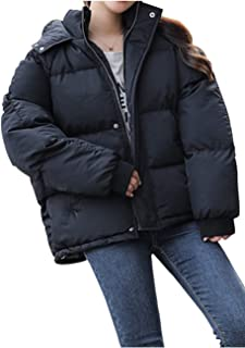 [ネコート] 5カラー ダウンジャケット ショート丈 オーバーシルエット カジュアル 冬 レディース M〜XL