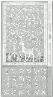 Andover Makower UK Scandi 2019 Scandi Advent Calendar Silver Fabric
