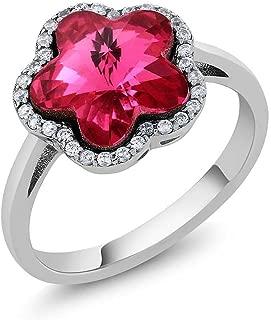 swarovski lady flower ring