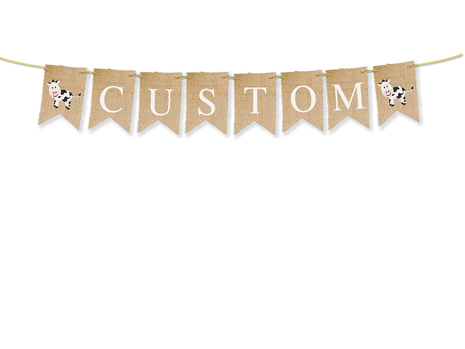It is very popular Cow Personalized Banner Custom Farm Max 69% OFF Sho Party Birthday or Baby