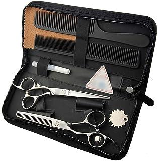 Professional Barber 6 Inch Hairdresser Professional Hairdressing Set Flat Scissor + Tooth Shear Set, Hairdresser Left Hand...