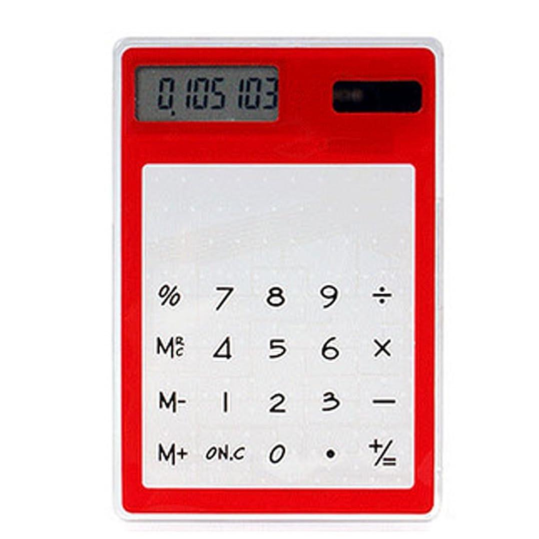 同種の小競り合い良性MORA 太陽エネルギー電卓 透明 卓上電卓 省エネ 大型液晶 事務用品 オフィス用品 小型 携帯便利 理科学生 金融 7桁 時間?税計算 学生計算器