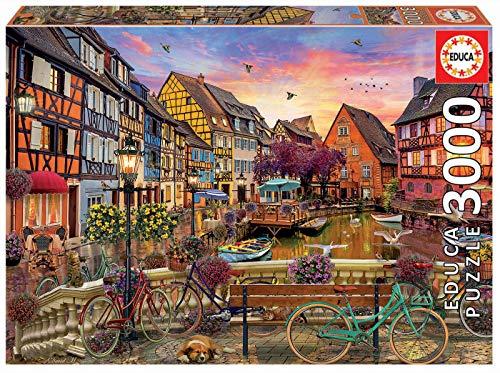 Educa Colmar, Francia. Puzzle de 3000 Piezas. Ref. 19051, Multicolor