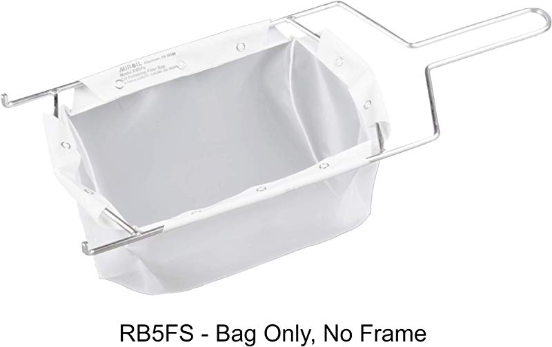 Miroil RB5FS Fryer Filter Bag Only MirOil EZ Flow Filter Bag Part 12751 Use To Filter Fry Oil Suitable For 40 Lb Or 50 Qt Polishing Oil Durable Easy To Clean With Hot Water No Frame Inc