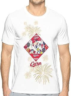 シャツ メンズ Carp Hiroshima広島東洋カープ 半袖 丸首 創意デザイン 3Dプリント 面白男女兼用 トップス快適 無地 軽い 柔らかい カジュアル ファション ホワイト スウェット