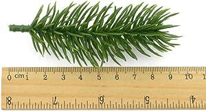 OSAYES Les Aiguilles de pin Artificielle Feuilles Vertes de 10 cm pour la Couronne de noël Garland DIY Accessoires déco agrémente de Vacances et 15pcs