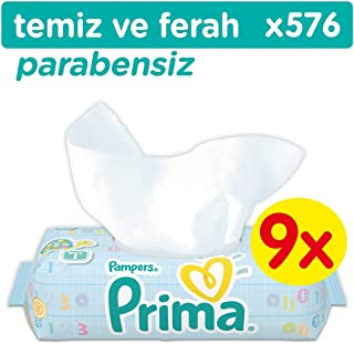 Prima Islak Havlu Temiz ve Ferah 9'lu Fırsat Paketi 576 Yaprak