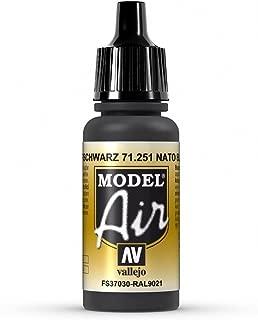 Vallejo Model Air 17 ml Acrylic Paint - NATO Black