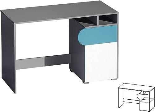 Schreibtisch Futuro Kinderzimmer M l Farbauswahl (WeißGraphite türkis)