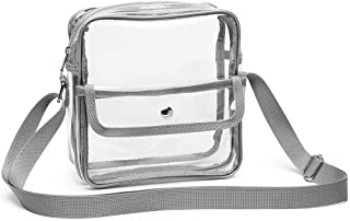 Clear Purse, Packism 2 Pockets Clear Stadium Bag for Women Men Approved for NFL/PGA/NCAA/BTS Concert Cross Body Bag