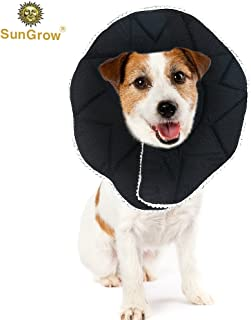 SunGrow Comfy Cone, Neck Circumference, Post Surgery Stress-Free Recovery Collar, Easy to Wash and Air Dry, Adjustable Loop Type Fasteners, for Cats and Dogs