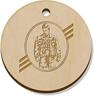 11 x 34mm 'Strong Man' Wooden Pendants / Charms (PN00059670)