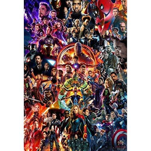 Avengers League Puzzle in Legno 1000 Pezzi, Infinity War Movie Stills Art Giocattolo Educativo Pittura Decorativa Regalo Decorazioni per La Casa(Size:1000PC)