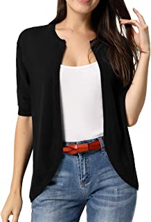Women Short Sleeve Cardigans Casual Lightweight Knit Sweaters