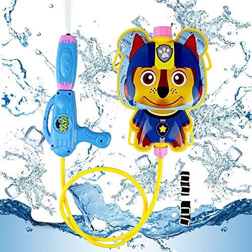 Smileh Pistola de Agua con Mochila Patrulla Canina Pistola de Agua con Mochila 1PCS Paw Patrol Pistolas de Agua para Niños de Playa al Aire Libre