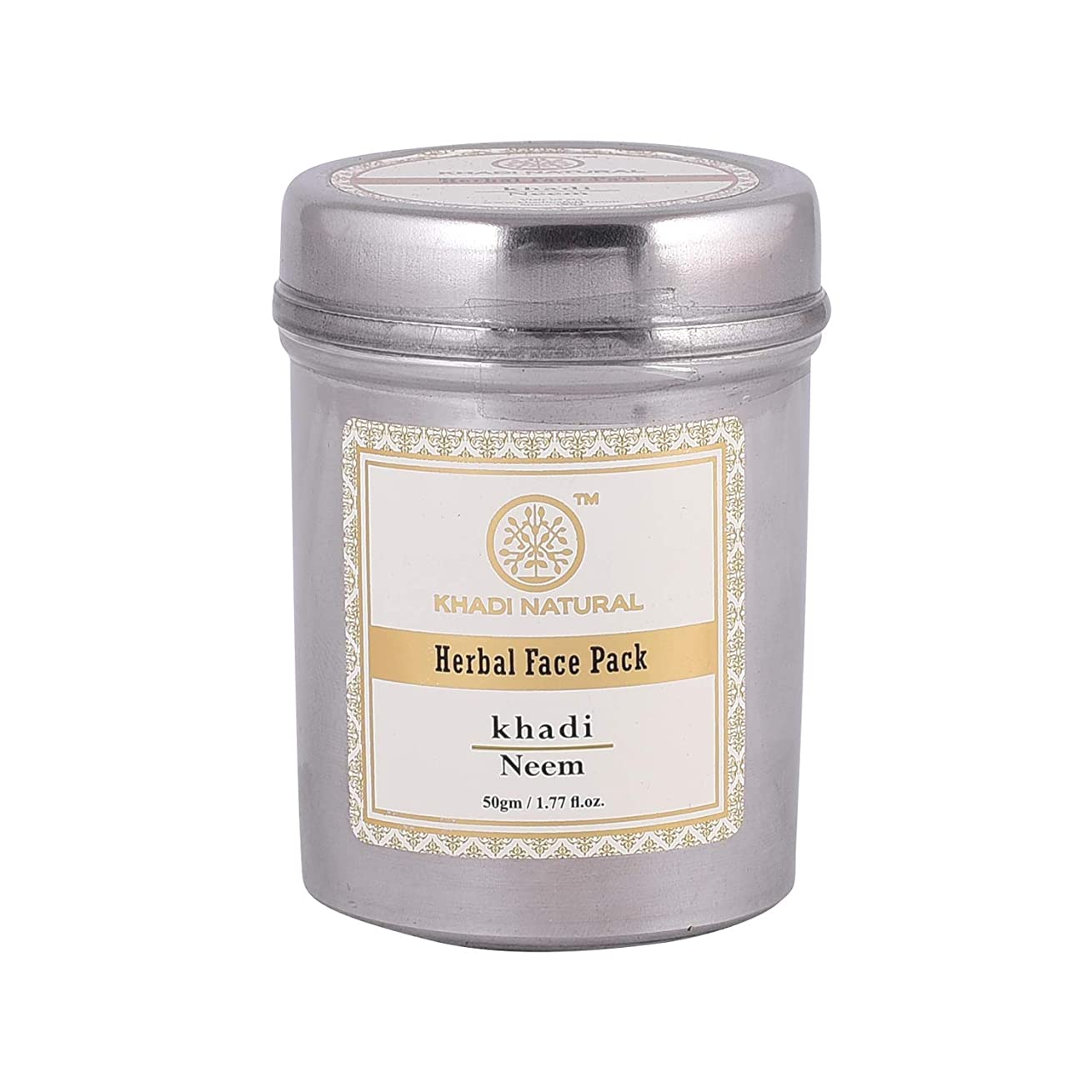 遅い疑問を超えて仕立て屋Khadi Natural Herbal Neem Face Pack (50g)