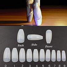 Vastitude Coffin Ballerina Nails 500PCS Half Cover False Nail Artificial Nail Tips For Nail Salons and DIY Nail Art (Natural)
