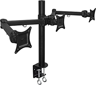 Mount-It! Articulating Triple Arm Computer Monitor Desk Mount for Monitors up to 24