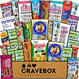 CraveBox Healthy Care Package (30 Count) Natural Food Bars Nuts Fruit Health Nutritious Snacks Variety Gift Box Pack Assortment Basket Mix Sampler College Students Final Exams Office Father's Day