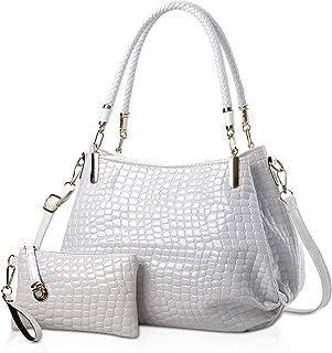 Nicole&Doris New Crocodile Grain PU Leather Women/Ladies Shoulder Bag Handbag Crossbody Totes Large Bag