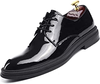 Oxford Classic Men's Business Leather Shoes High-gloss Leather Shoes Microfiber Upper Rubber Sole Lace Up Handmade Style for Formal Occasions Modern Comfortable Derby Saddle Shoes