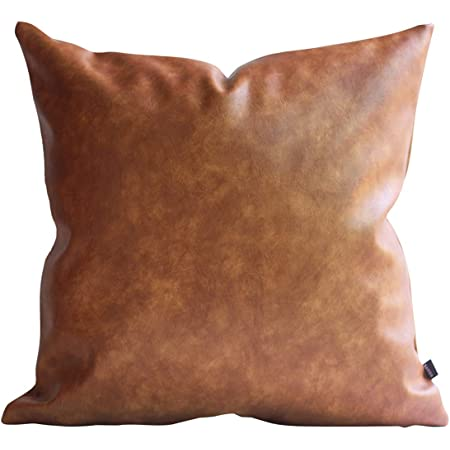 Leather and Cloth SALS Faux Leather Pillow Covers Home Decor