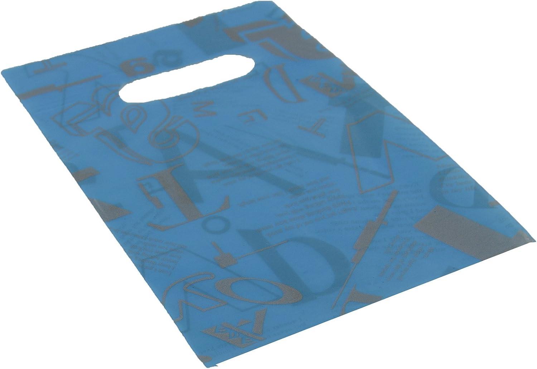 100 x Plastic Gift Bags Bags Bags - Blau with Print - 14x20cm(59004-171) Jewellery Box Presentation Gift Shop Packaging B004WKJF28 | Attraktives Aussehen  30ac88