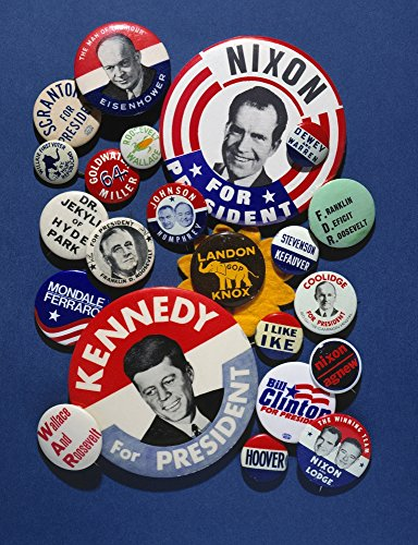 Campaign Buttons Nan Assortment Of Buttons From 20Th Century American Presidential Campaigns Poster Print by (18 x 24)
