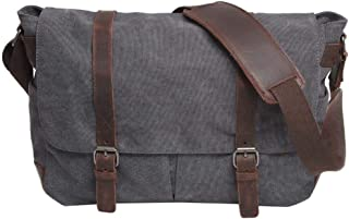 Neumora Minimalist Style Vintage Canvas Messenger Bag Shoulder Bag Men's Cross Body Satchel Bag for 15.6 ''Laptop