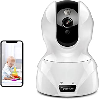Security Camera 1080P Pet Camera WiFi Surveillance Camera with Motion Detection, Night Vision and Two Way Audio, Tovendor ...