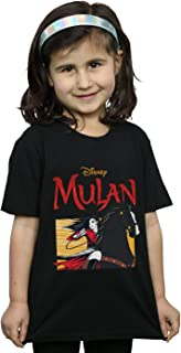 Disney Girls Mulan Movie Horse Frame T-Shirt