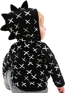 Baby Boys Sweatshirt Hoodie Casual Cartoon Dinosaur Tops Pocket Toddler Outdoor Clothes