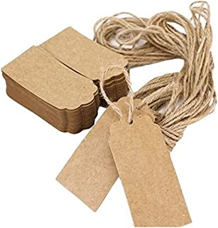 Khaki Wicemoon Lot de 100 /étiquettes vierges en papier Kraft id/éales pour les cadeaux//les valises//les mariages//les prix Motif c/œur 100pcs