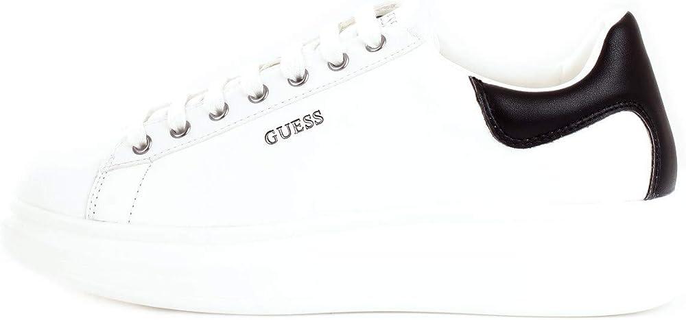 Guess salerno, scarpe sneakers da ginnastica per uomo,in pelle FM5SLRLEA12