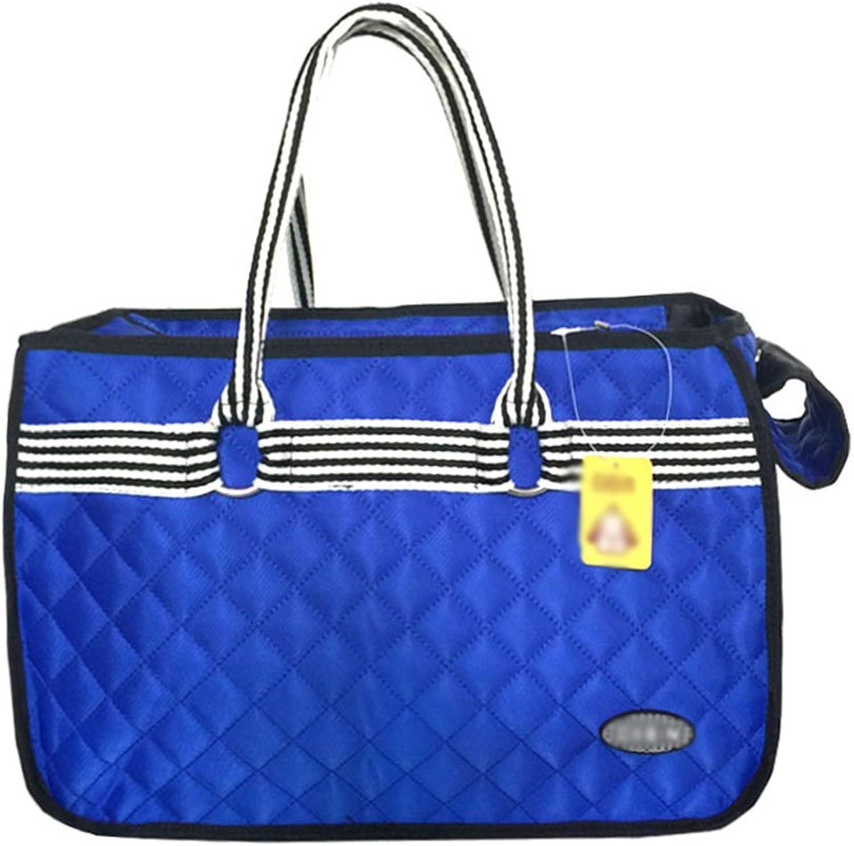 Portable Pet Backpack Pet Travel Carry Bag Tote Case Lightweight Pet Carrier Crate color Optional (color   bluee)
