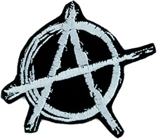 76c92e49e35 White Anarchy Sign Patch Iron on Applique Alternative Punk Rock Clothing DIY