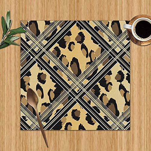 Saudade House Manteles Individuales,Manteles De Piel De Leopardo Sintetico Negro Abstract The Arts Manteles Individuales Resistentes Al Calor Manteles Lavables para Cocina Mesa De Comedor