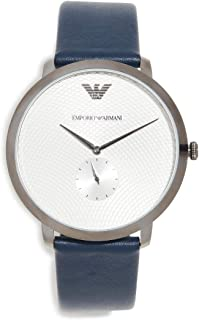 Emporio Armani Men's Modern Slim Watch, 42mm, Gun/Blue, One Size