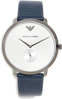 Emporio Armani Men's Modern Slim Watch, 42mm, Gun/Blue, One Size