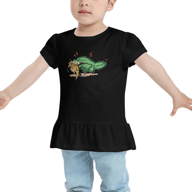 GZNPVL Chibi Anjanath Cute Monsta Babys Girls Cotton T-Shirt Tees Dresses
