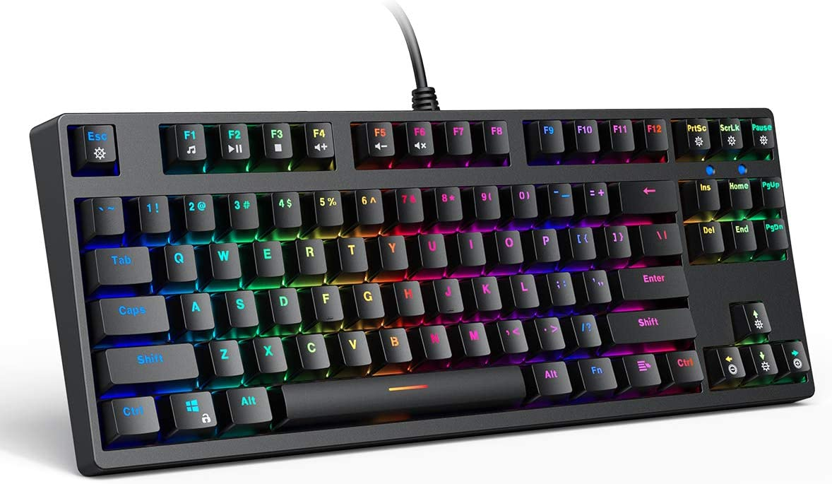 KM-G14 Mechanical Great interest Keyboard 40% OFF Cheap Sale Red Switches 87Key Compact Gamin with