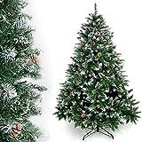 Yorbay - Árbol de Navidad Artificial Natural de Blanco Nevado, 180cm 930 Puntas...
