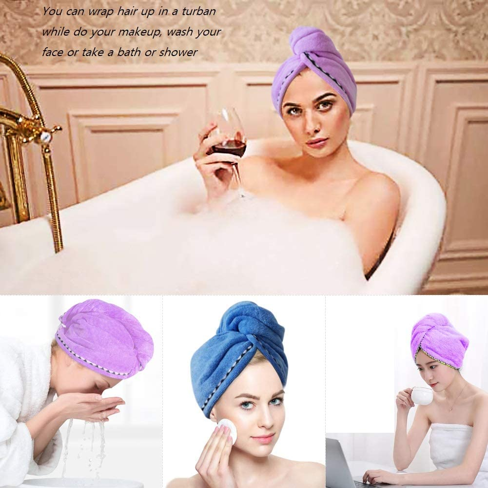Hair Accessories for Women Girls FYHappy Microfibre Hair Towel Quick Drying Towels Wrap Turban Cap with Hair Bands Headbands Head Band Hair Clips Elastics Ties Scrunchies Multipack
