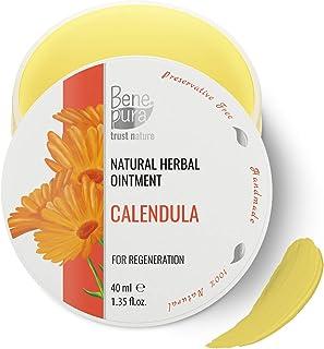 Pomada Natural de Caléndula 40 ml – Extracto de Aceite Frío – 100% Natural – Cicatriza Heridas Moretones Guemaduras – Co...