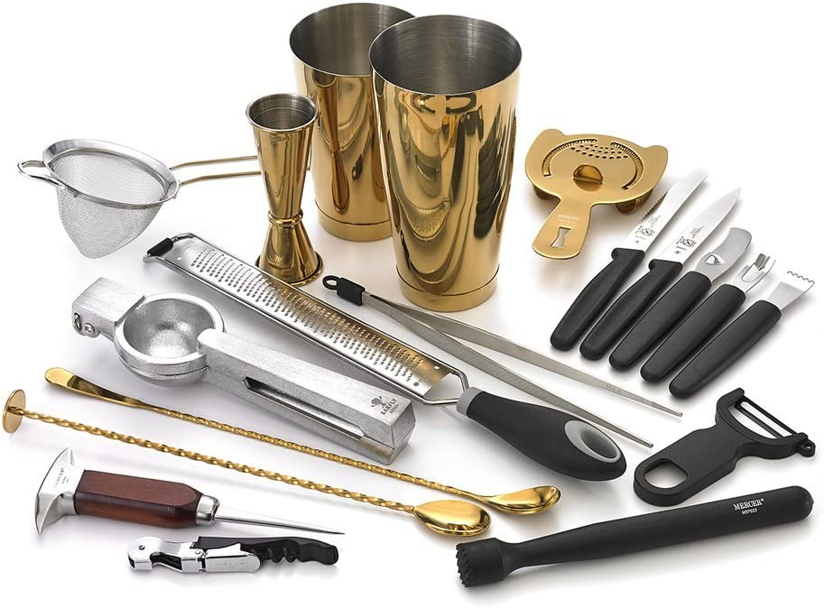 Barfly Cocktail Set Deluxe 12-Piece Gold Selling and Our shop most popular selling
